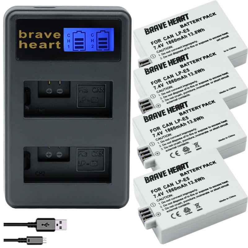 Bateria LP-E5 Batterij Voor Canon 500D,450D,1000D, Eos Rebel T1i Xs, Xsi, kus X3, X2, Kiss F Slr Digitale Camera LPE5 Lp E5