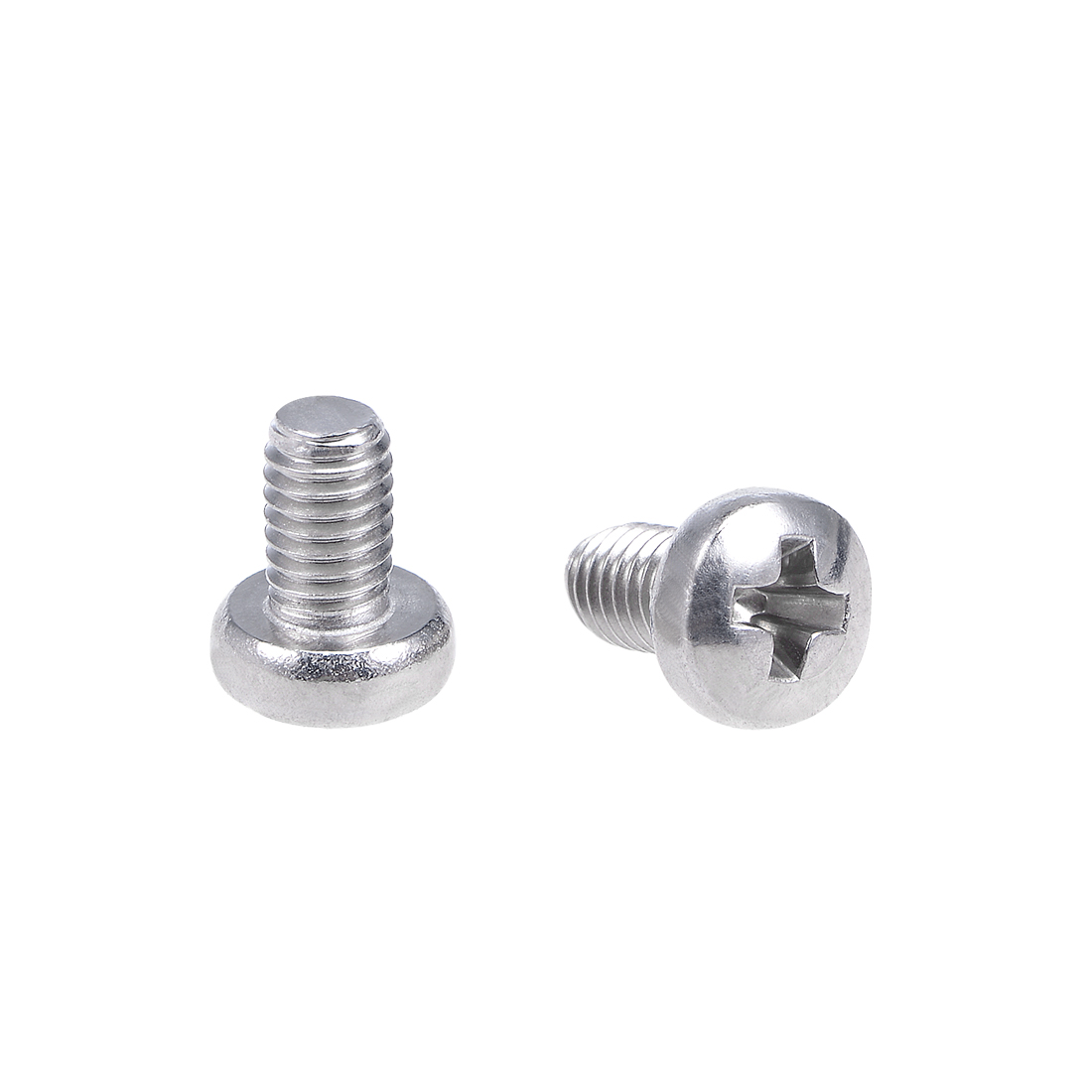 uxcell Machine Screws Cross Head Screw 304 Stainless Steel Fasteners Bolts <font><b>M3x5mm</b></font> 60Pcs image