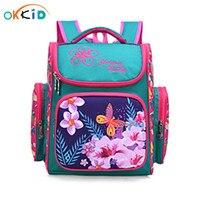 OKKID الحقائب المدرسية الابتدائية للفتيات أزهار لطيفة على ظهره الاطفال bookbag الأطفال حقيبة المدرسة حقيبة مدرسية الابتدائية الأزهار
