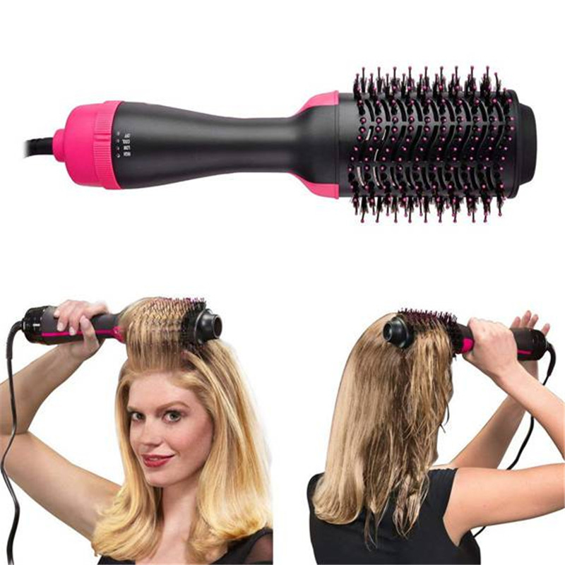 Professional Hair Dryer Brush 1000W 2 In 1 Hair Straightener Curler Comb Electric Blow Dryer hot Hair Comb Brush Roller Styler