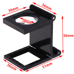 Microscope Folding Magnifier Stand Loupe with Scale for Textile Optical Foldable Magnifying Glass Tool 10X 28mm