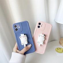 Gato de descompressão kneadable para iphone 12 11 pro xs max xs xr 7 8plus caso tpu caso de telefone macio