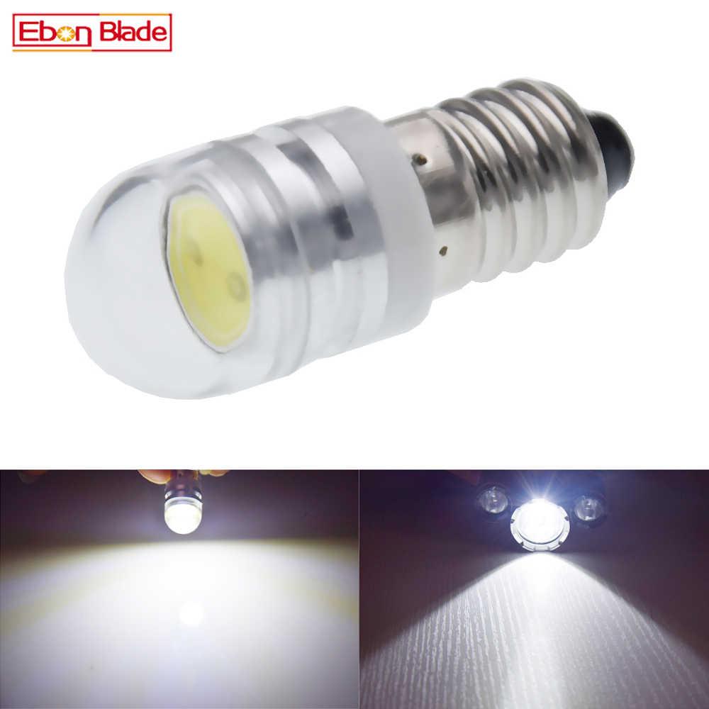 1 cái E10 COB 2 wát Đèn LED Trắng MES Thu Nhỏ Vít Bóng Đèn 1447 phong cách  Vít Đèn ĐỘNG CƠ XE ĐẠP Ánh Sáng 6 v DC 6500 k Miễn
