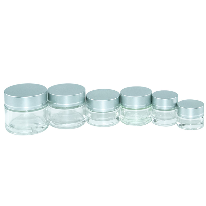 10pcs Empty Glass Jars Refillable Bottles Cosmetic Jars Makeup Container Small Round Bottle Little Cream Series Sample Container