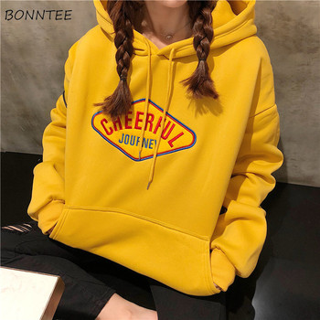 Hoodies Women Winter Plus Velvet Warm Thicker Loose Soft Full Sleeve Womens Sweatshirts Cotton Hooded Korean Ladies Pullover
