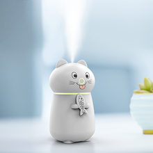 KBAYBO 180ML Cute Kitten Styling Humidifier Aroma Diffuser with USB Cable Fan and LED Light 3 In 1 Air Purifier(China)