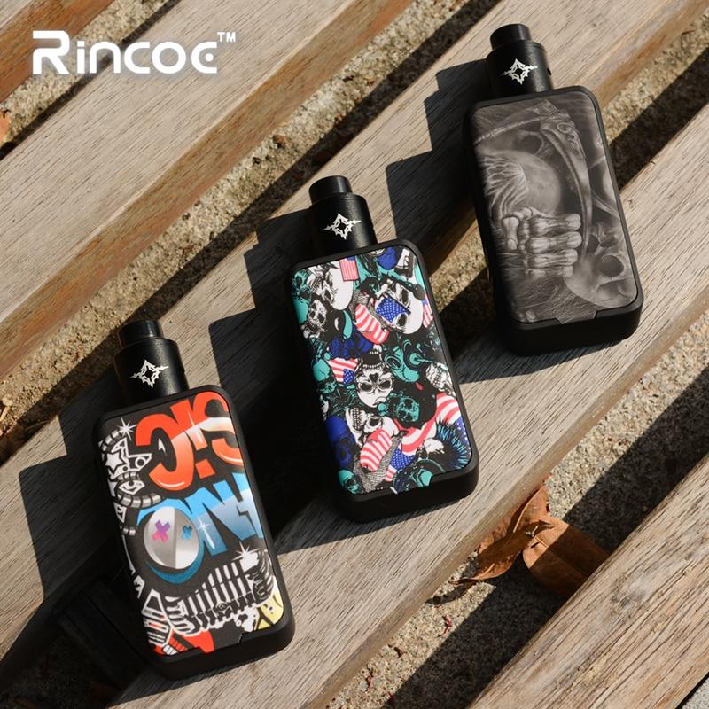 En Stock !! Rincoe Manto pro 228W RDA KIT alimenté par double 18650 batterie avec Metis RDA réservoir atomiseur Vape Cigarette électronique