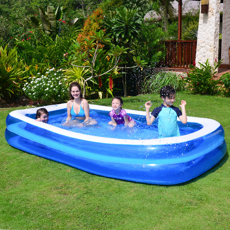PVC Kids Inflatable Pools Wear-Resistant Children's Home Use Paddling Pool Large Size Inflatable Square Swimming Pool For Baby