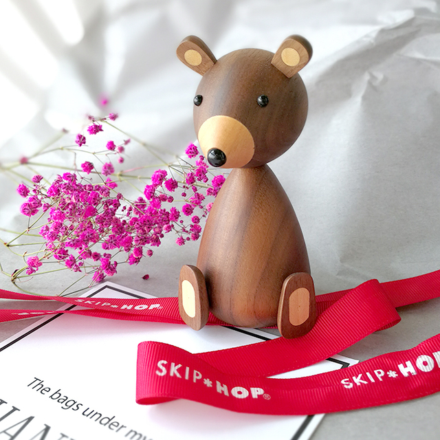 Russia Little bear wood ornaments for decor squirrel for furniture wood crafts shipping small gifts wood bear toy ornament home 5