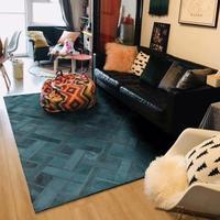 Light Luxury Dark Green Carpet Living Room Mat Natural Cowhide Real Cow Fur Rug