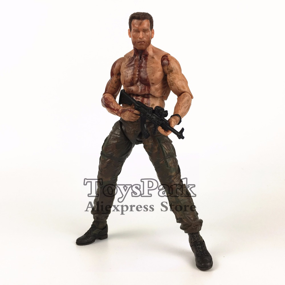 "Original NECA Predator DVJ 7"" DUTCH Action Figure From VS Jungle Hunter The Final Battle Collectible Toys Doll LooseAction & Toy Figures   -"