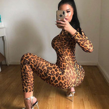 hirigin new fashion Women Leopard Printed Jumpsuits female Romper ladies Playsui