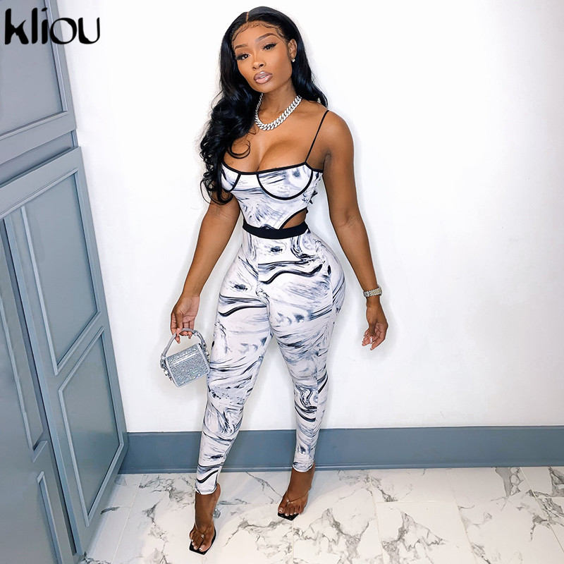 Kliou Zebra Tie Dry Two Piece Set Women Autumn Fashion Bra Bodysuit+High Waist Elastic Leggings Co ord Sets Female Outfits Hot