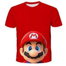 T-shirt Family Summer Kids T-shirt Super Mario Theme Toddler Boys Girls T-shirt Summer Printed T-shirt