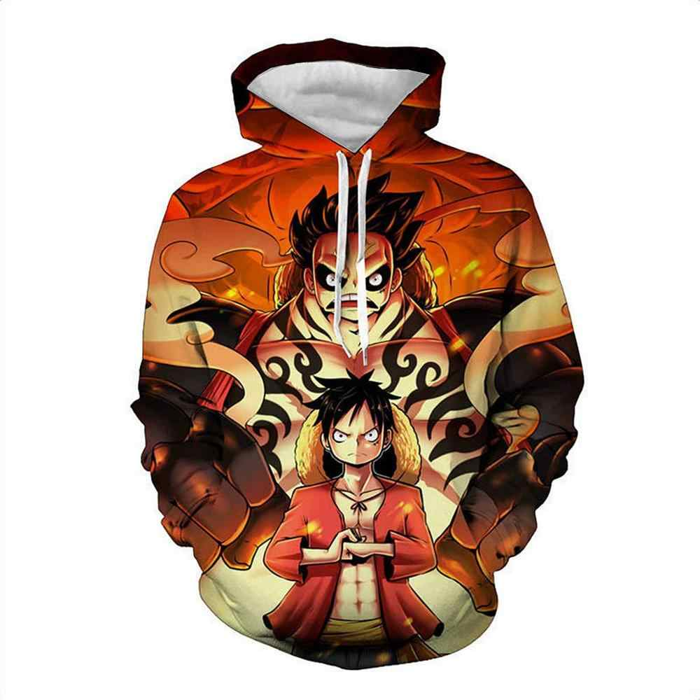 Anime One Piece Hoodie man's Sweatshirt one piece Jacket Luffy Ace Sabo Shanks Law Battle Tracksuit Outfit Casual Outerwear