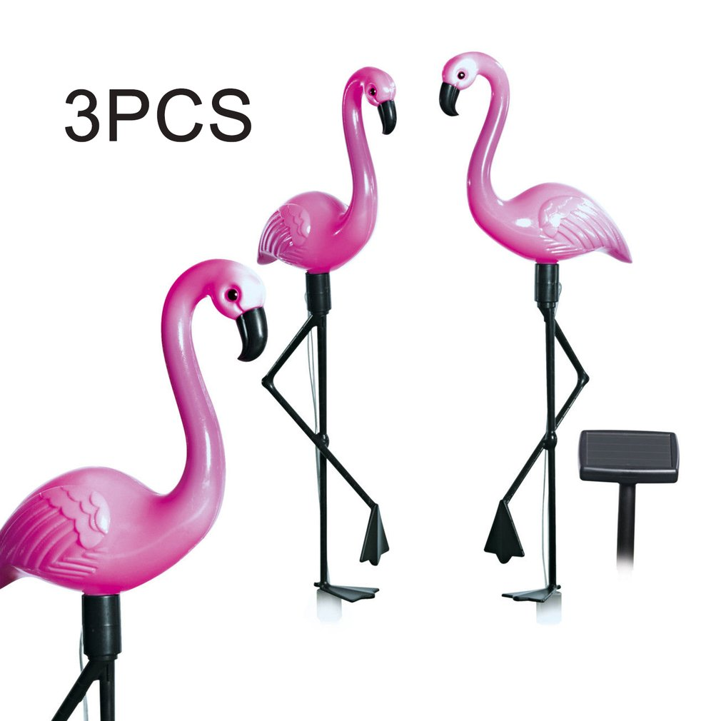 3pcs LED Solar Garden Light Flamingo Lawn Lamp Waterproof Solar Led Lights Outdoor For Garden Decoration Parties