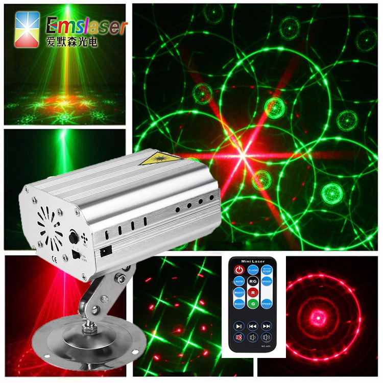 Diplopore Red And Green Laser Light More Map Effect Laser Projection Lamp Bar KTV Box Use Voice-Activated Self-Propelled Strobe