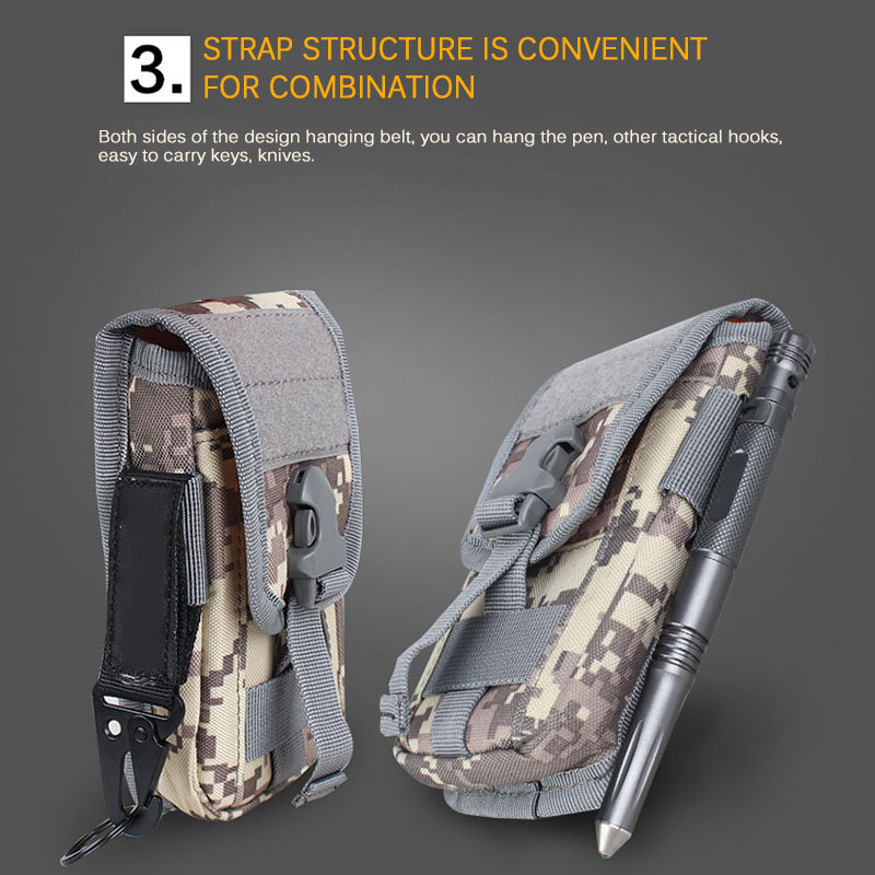 Outdoor Tactical Pouch Bag Military Camo Rucksack Hunting Hiking Shoulder Bag Utility Tool Bag Multifunction Tactical Pouch
