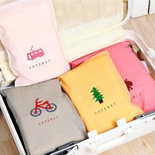 New CartoonTravel Storage Bags Zipper Organizer Bag For Clothing Underwear Socks Shoes Storage Bag Housekeeping(China)