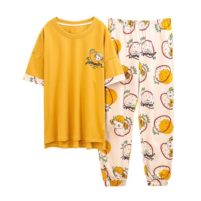 Cartoon Pyjamas Jumpsuits & Pyjama Sets Women color: Blue blue 1 Green Green 1 Pink pink 1 Purple Red red 1 White white 1 White 2 Yellow yellow 1 yellow-2 yellow-3 yellow-4