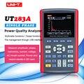 UNI-T UT283A однофазный анализатор качества мощности; Пусковой ток/время гармоник/щелчок измерения/регистрации данных