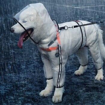 HOOPET Pet Impermeabile Puppy Quattro Piedi Con Cappuccio Impermeabile Trasparente Teddy Cane di Grandi Dimensioni Pioggia Fuori I Vestiti per Animali 1