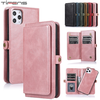Luxury Flip Wallet Case For iPhone 12 Mini 11 Pro Max Magnetic Leather Cover For iPhone XS Max XR X 6 6s 7 8 Plus SE Phone Coque