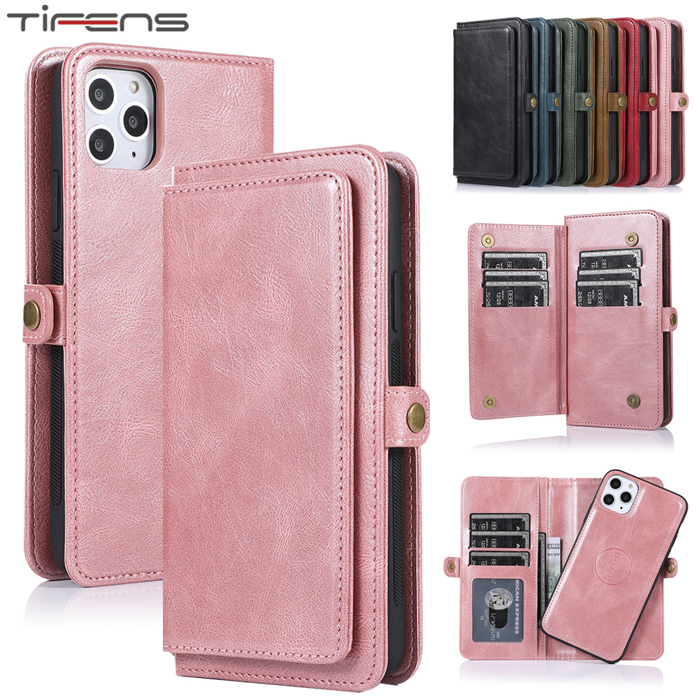 Luxury Flip Wallet <font><b>Case</b></font> For <font><b>iPhone</b></font> 11 Pro Max Magnetic <font><b>Leather</b></font> Cover For <font><b>iPhone</b></font> XS Max XR X 6 6s 7 <font><b>8</b></font> <font><b>Plus</b></font> Mujer Phone Coque Bag image