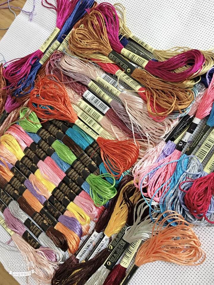 Oneroom 100 pieces silk embroidery /silk cross stitch thread / common color silk thread / s hand embroidery embroider|Floss| |  - AliExpress