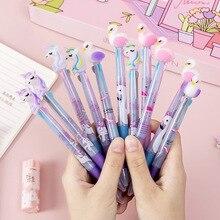 Stationery Ball-Pens Unicorn Gift Writing-Supplies Office Flamingo School Cartoon 4-Colors