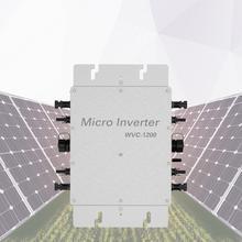WVC 1200 Solar Micro inverter mit AC-Interconnect kabel 110/230 v AC spannung Stecker-Spielen