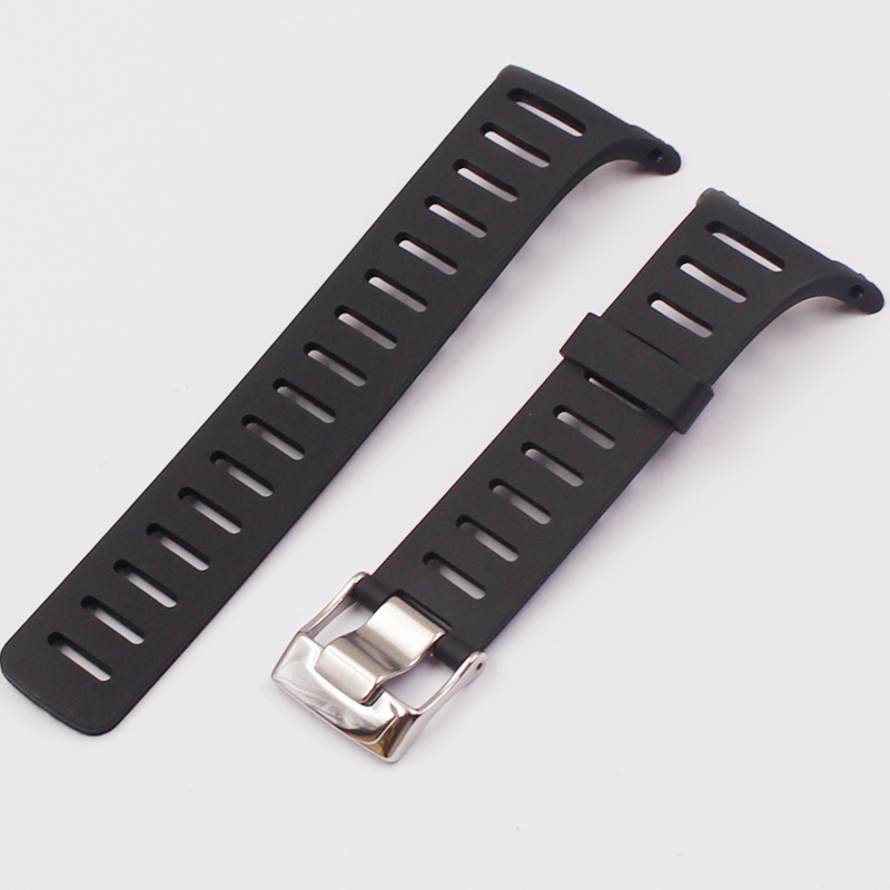 Image 5 - Stylish and exquisite black rubber strap for SUUNTO strap T1 T1C T3 T3C T3D T4C T4D outdoor sports waterproof mens strapWatchbands   -