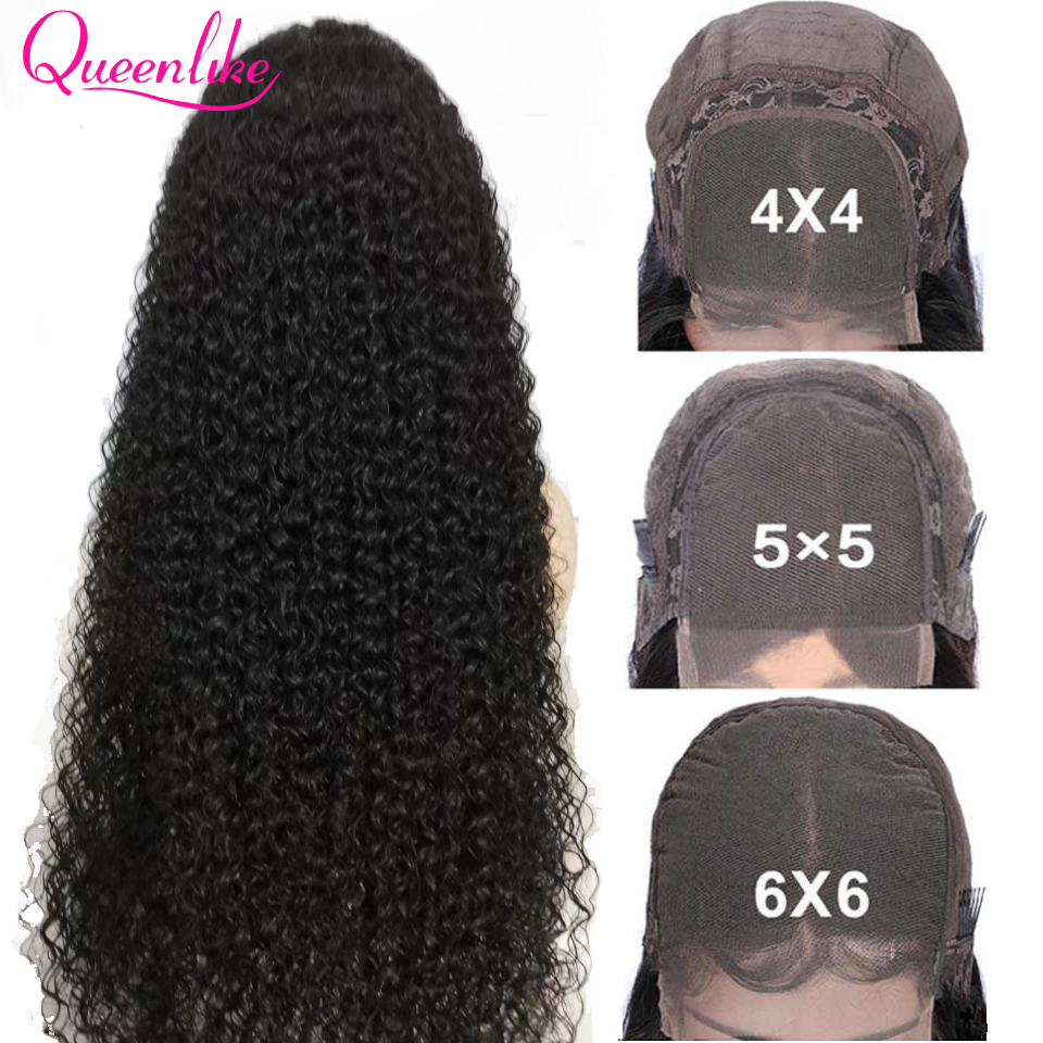 30 32 Inch Lace Front Brazilian Kinky Curly 5x5 6x6 Closure Wigs For Black Women Curly Human Hair Wig 13X6 HD Lace Frontal Wig