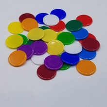 100PCS/Set 4 Colors 19mm Creative Gift Accessories Plastic Poker Chips Casino Bingo Markers Token Fun Family Club Game Toy