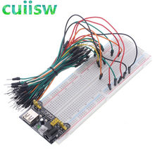 MB-102 mb102 placa de pão pcb solderless ponto 830 teste desenvolver diy