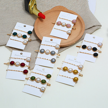 HOCOLE Korean Fashion Pearl Barrette Hair Clips For Women Crystal Resin Hairpins Girls Hair Styling Accessories Tools Jewelry цена и фото