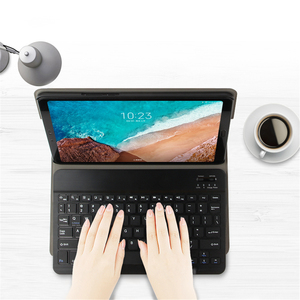 Image 4 - Capa para teclado para xiaomi mi pad 4 plus, capa de tablet com suporte removível, couro pu de 10 polegadas teclado blutooth