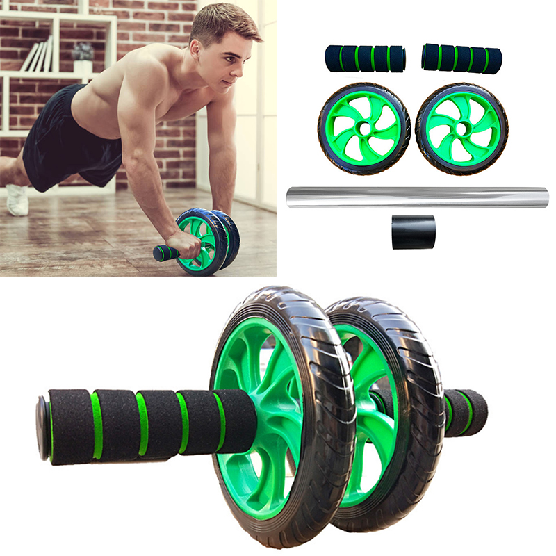 Double Wheels Abdominal Roller Wear-resistant Wheel Abdominal Wheel Roller Fitness Exercise Equipment For Home Gym