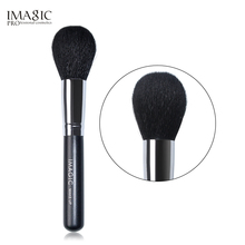 все цены на IMAGIC black Makeup Brushes Foundation Soft Goat Hair Brushes Wood Handle Powder Blush Face Makeup Tool онлайн