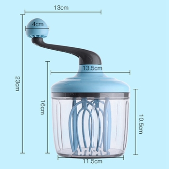 Handleiding Ei Cream Whisk Hand Type Schuim Maker Melkopschuimer Handheld Multi-Functionele Eieren Beater Praktische Keuken Tool 1100 Ml