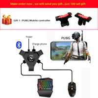 Kuulee PUBG Mobile Gamepad Controller Gaming Keyboard Mouse Converter For Android ios Phone IPAD Bluetooth 4.1 Adapter Free Gift