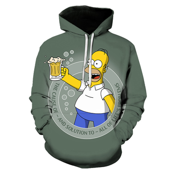 Simpson Streetwear Graffiti 3D Hoodies Men / Women Fashion Hoodies 1