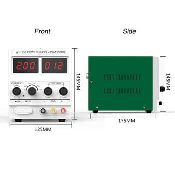 Digital Display Adjustable alimentatore regolabile Stabilized Power Supply Meter Power Tool Parts DC Voltage Regulator 15V LED