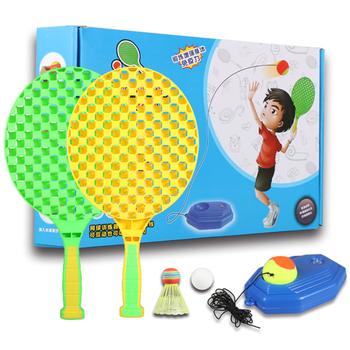 Trening tenis stół do badmintona trening tenis do samodzielnego wypoczynku relaks dziecko kryty gra na wolnym powietrzu wizualny przyrząd szkoleniowy tanie i dobre opinie NYLON Other