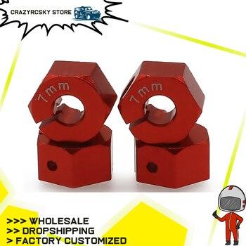 4 piezas de eje de rueda hexagonal de aleación negra anodizada con pasadores y tornillos de fijación para Rc Hobby modelo de coche 110 Hpi empresa Fj Cruiser