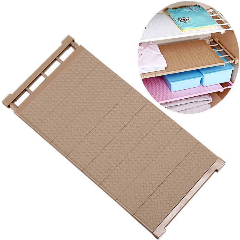New Adjustable Closet Organizer Storage Shelf Wall Mounted DIY Wardrobe Space Saving Cabinet Storage Rack Bathroom Organizer