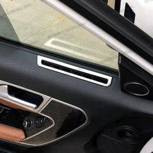 Cadre de sortie d'air pour porte de voiture en acier inoxydable, garnitures pour Haval H6 Coupe 2017 2018 2019 2020, accessoires d'intérieur chromés, Lsrtw2017