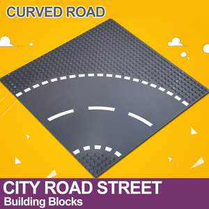 Image 3 - City Road Street Baseplate Straight Crossroad Curve T Junction Building Blocks 7280 7281 Base Plate compatible LegoINGlys City