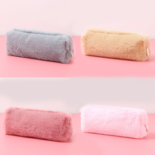 Buy Kawaii Plush Pencil Case For Girls Cute Pencil Bag Large Capacity Pencil Box Pen holder School Supplies Stationery directly from merchant!
