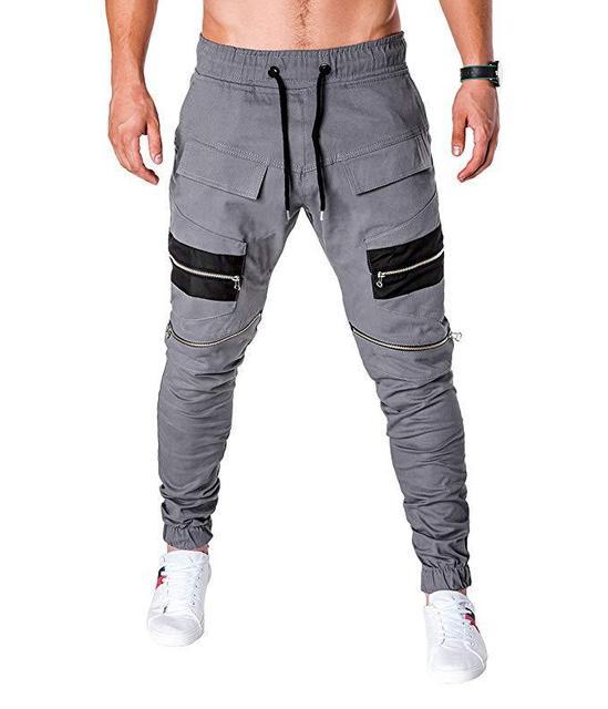 MARKA KRALI-Pantalones para Hombre, ropa informal estilo Hip Hop, Cargo, Pantalones bombachos, Steampunk, para correr 5